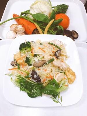 606- Vegetables, Egg, Mushrooms, and Tofu Fried Rice