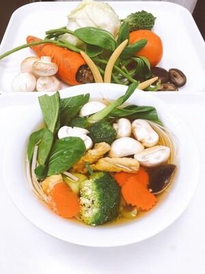 612- Vegetarian Rice Noodle, Tofu, and Mushroom Soup