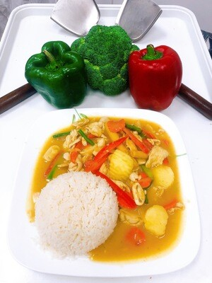705- Yellow Curry with Steamed Rice
