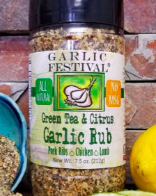 Green Tea & Citrus Garlic Rub