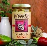 Spicy Herb Pickled Garlic 8oz