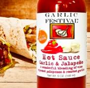 Garlic & Red Jalapeno Hot Sauce 50z.