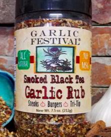 Smoked Black Tea & Garlic Rub 7.5 oz.