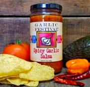 Spicy Garlic Salsa 12 oz.