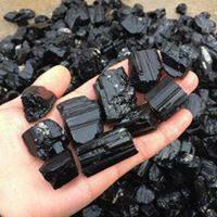 Black Tourmaline Rough - Medium Size Pieces
