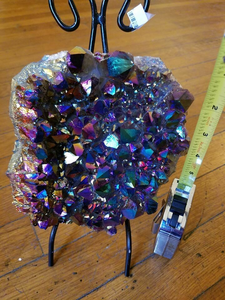 Aura Amethyst Large Cluster with Stand(ON SALE) Regular $239.95