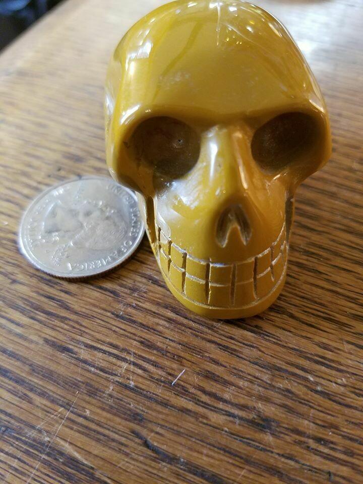 Skull - Yellow Jasper
