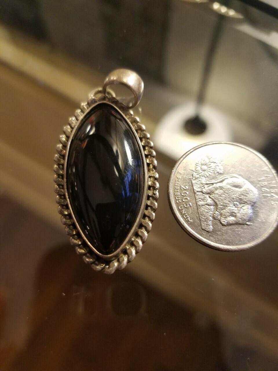 Black Onyx Pendant -India  1/2 price!!!!!!!!!!!!