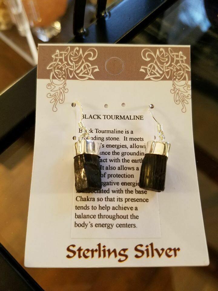 Black Tourmaline Earrings 1/2 Price!!!