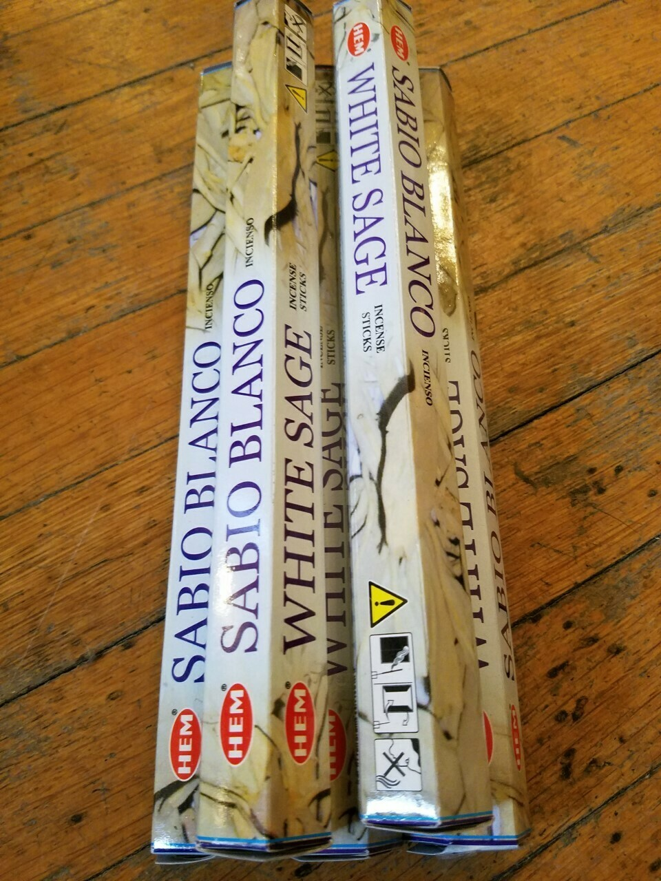White Sage Incense (5 packages) of 20 Stick -100 sticks total