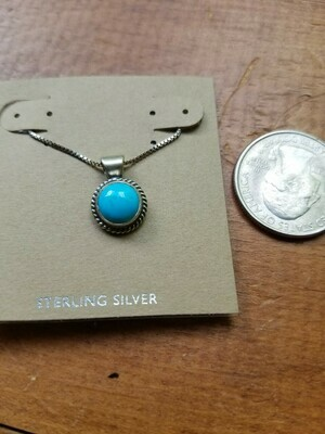 Turquoise & Sterling Pendant -New Mexico(ON SALE) Regular $175.95