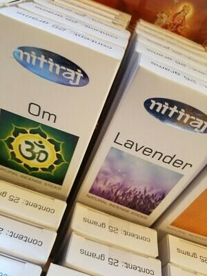Incense Nitiraj -one pkg each of OM & Lavender