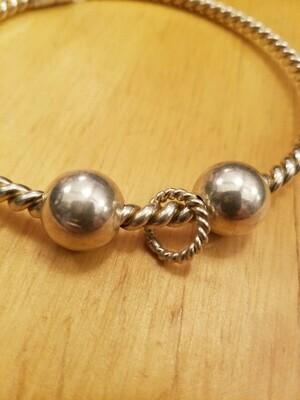 Sacred Geometry 1/2 Cubit (Lost) Tensor Ring -2 beads- Sterling