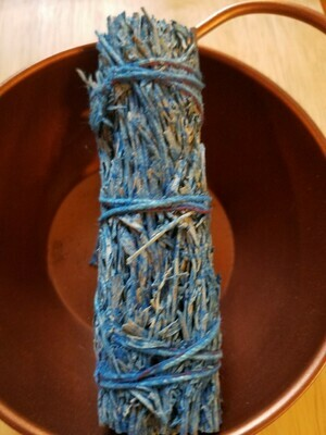 Smudge Bundle Mountain Sage & Nag Champa -scented- approx 4