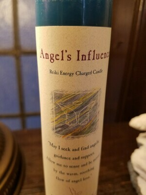 Candle Slim Pillar- Angel's Influence-Reiki Charged
