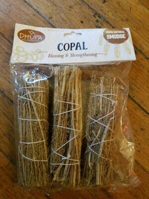 Smudge Bundles (3) Three Pack Copal