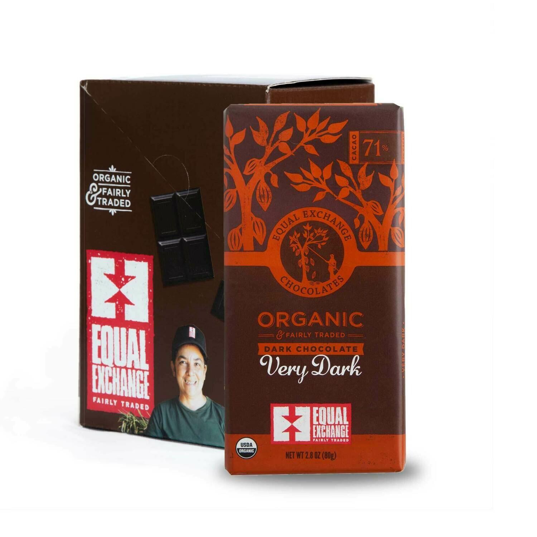 Chocolate Very Dark 71% -Organic , Fair Trade ( One Bar)
