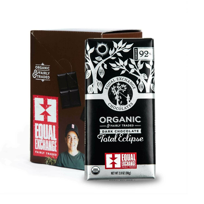 Chocolate Dark 92% -Organic , Fair Trade ( One Bar)