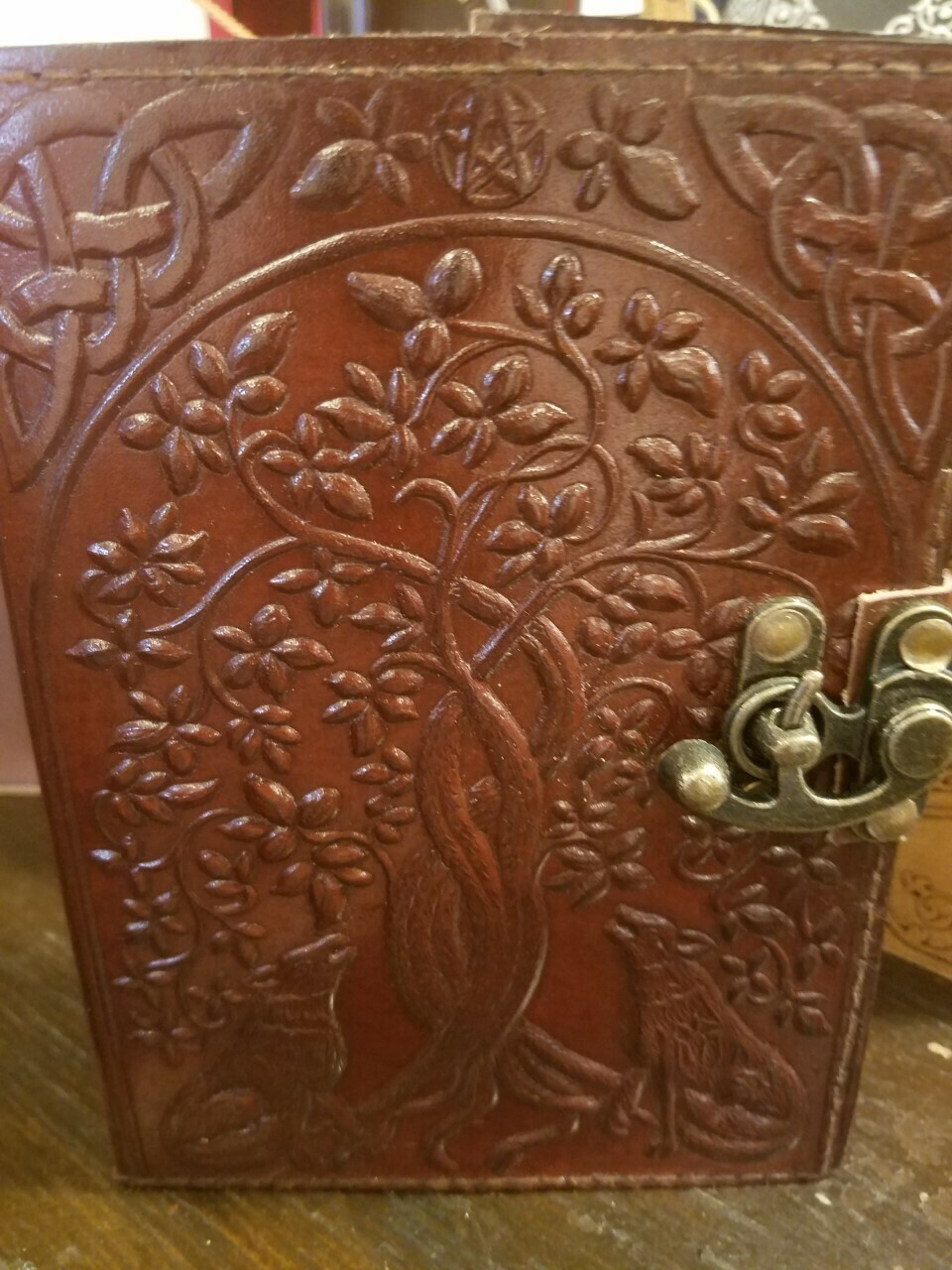 Journal Leather (India) Tree Design with Latch 5x7