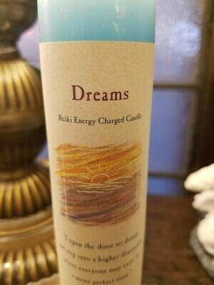 Candle Slim Pillar - Dreams -Reiki Charged