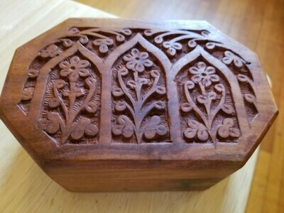 Wooden Box Floral-shaped - India