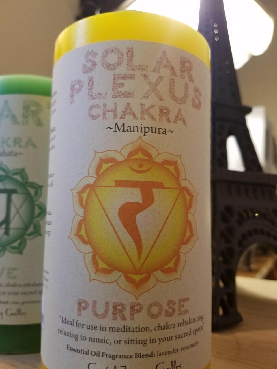 Candle 3x6 Pillar - Solar Plexus -Reiki Charged