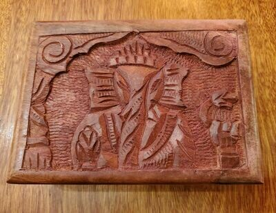 Wooden Box Ganesh-5x7