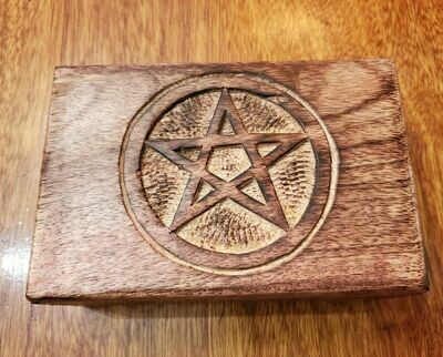 Wooden Box Pentacle-India  4x6