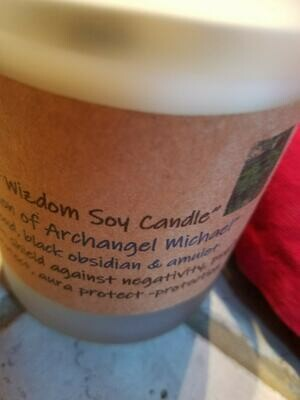 Judy's Soy Candle -Archangel Michael- Tonka & Oud (Pick up only)