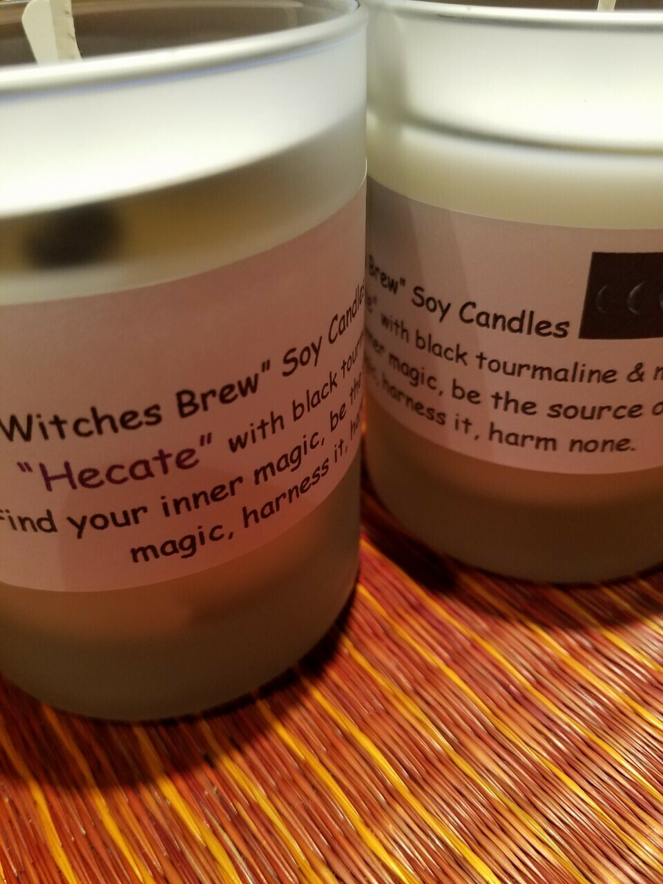 Judy's Soy Candle -Hecate- Musk & Black Tourmaline (Pick up only)