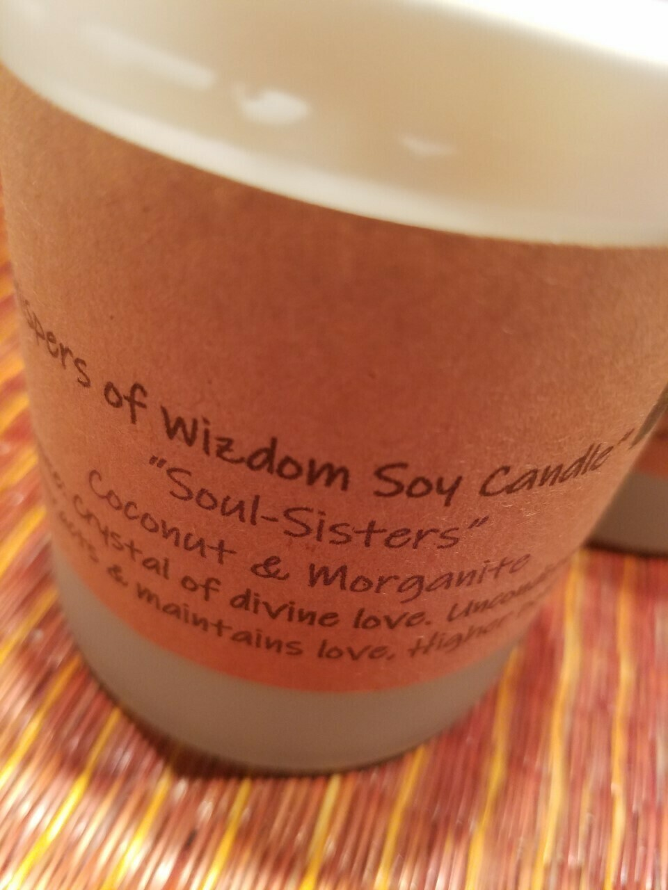 Judy's Soy Candle -Soul Sisters-Coconut  (Pick up only)
