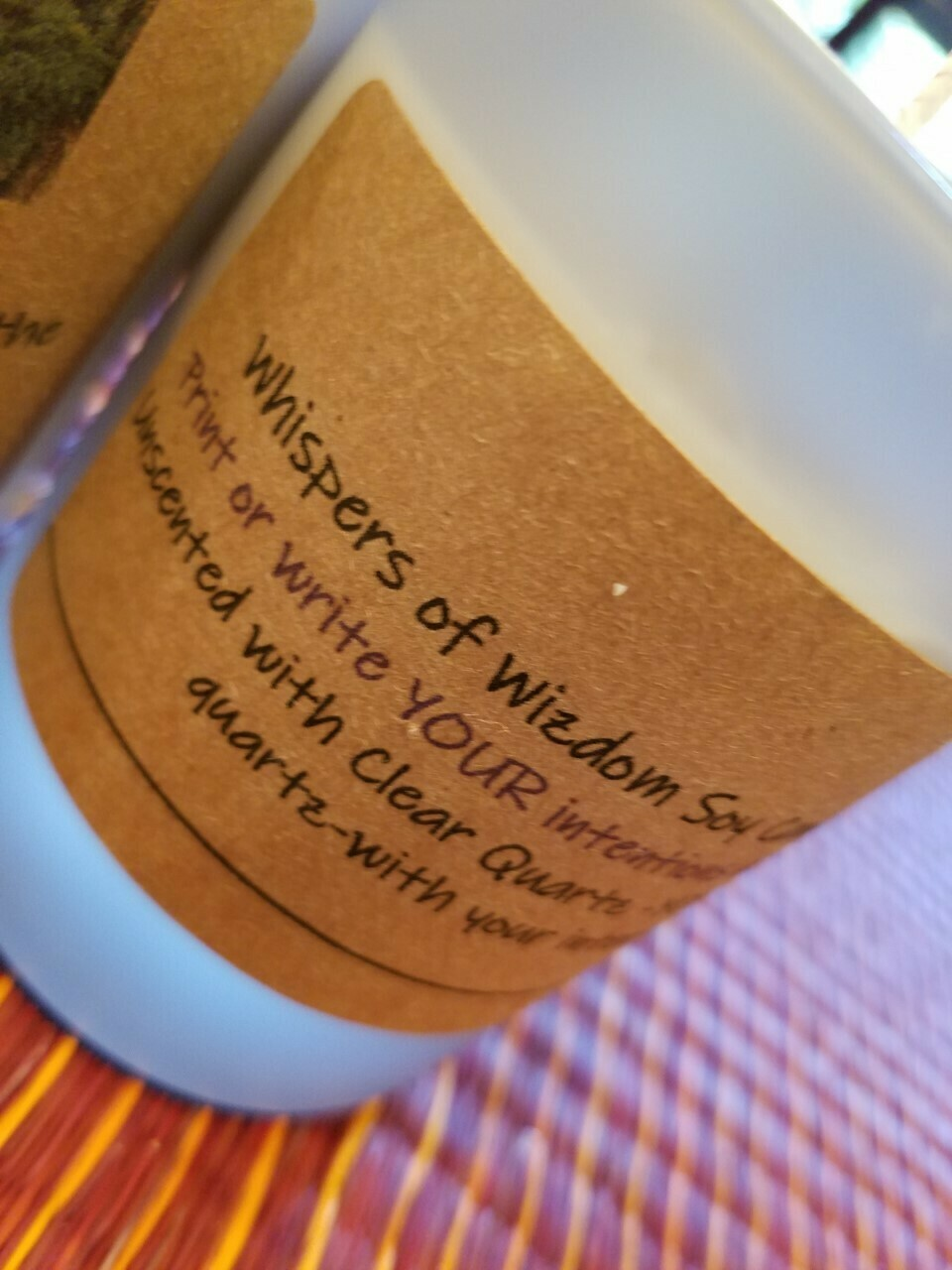 Judy's Soy Candle -Intentions-Unscented (Pick up only)
