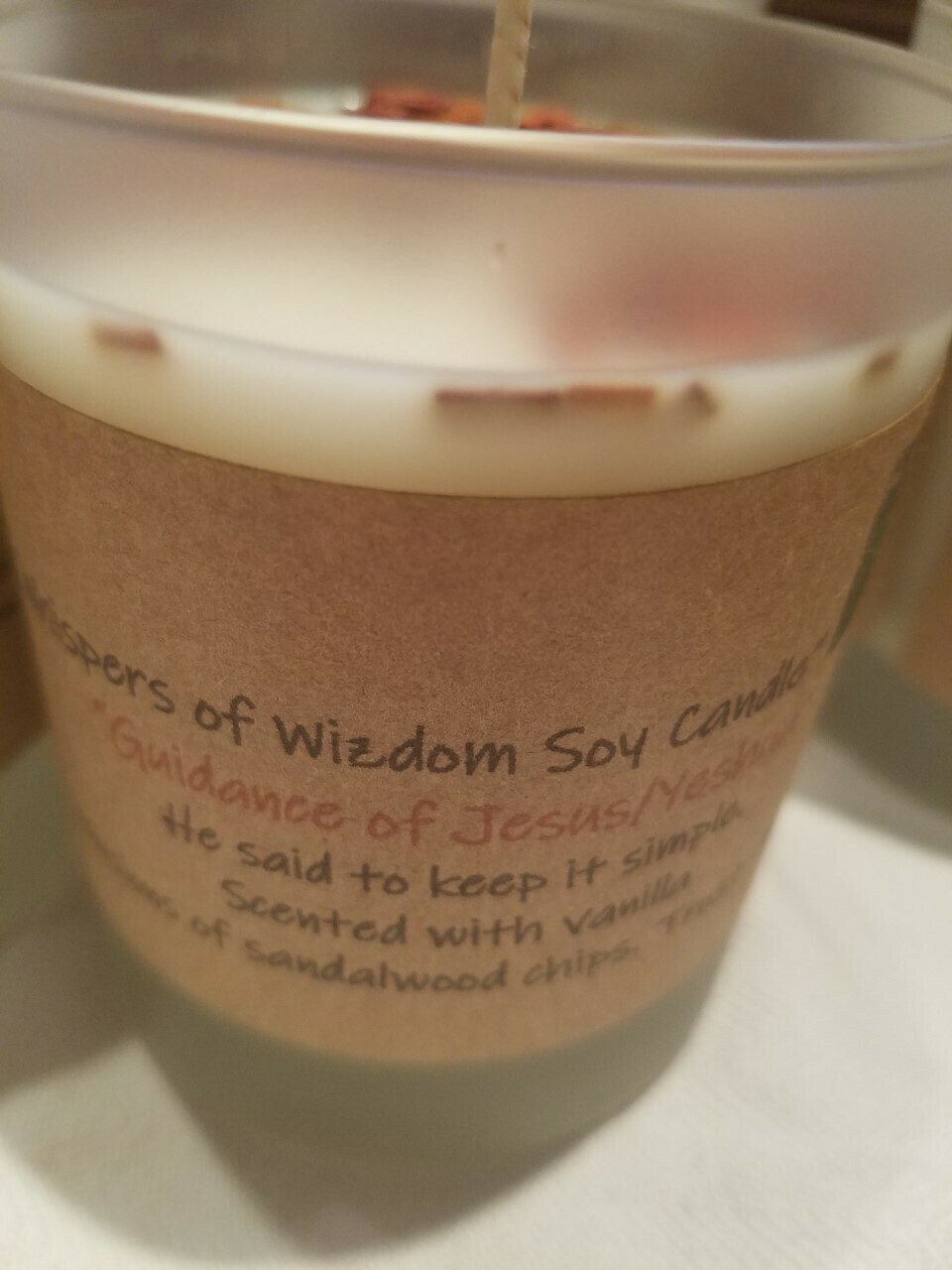 Judy's Soy Candle -Guidance of Jesus/Yeshua -Vanilla (Pick up only)