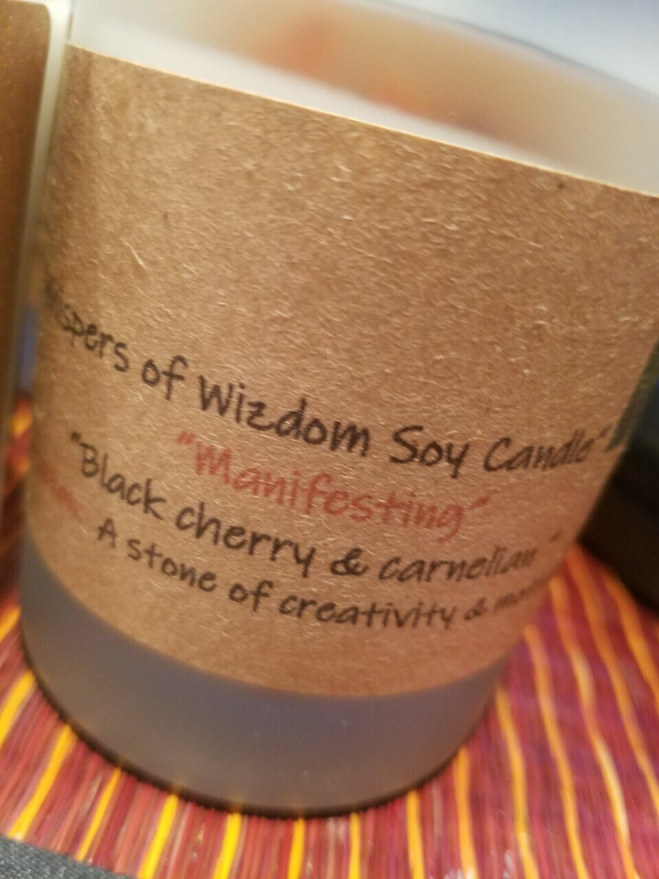 Judy's Soy Candle -Manifesting -Black Cherry (Pick up only)