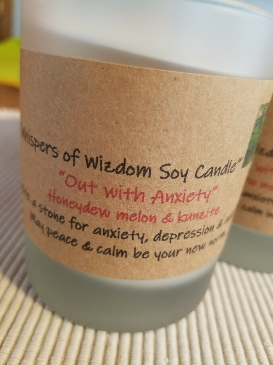 Judy's Soy Candle -Out with Anxiety-Honeydew Melon (Pick up only)