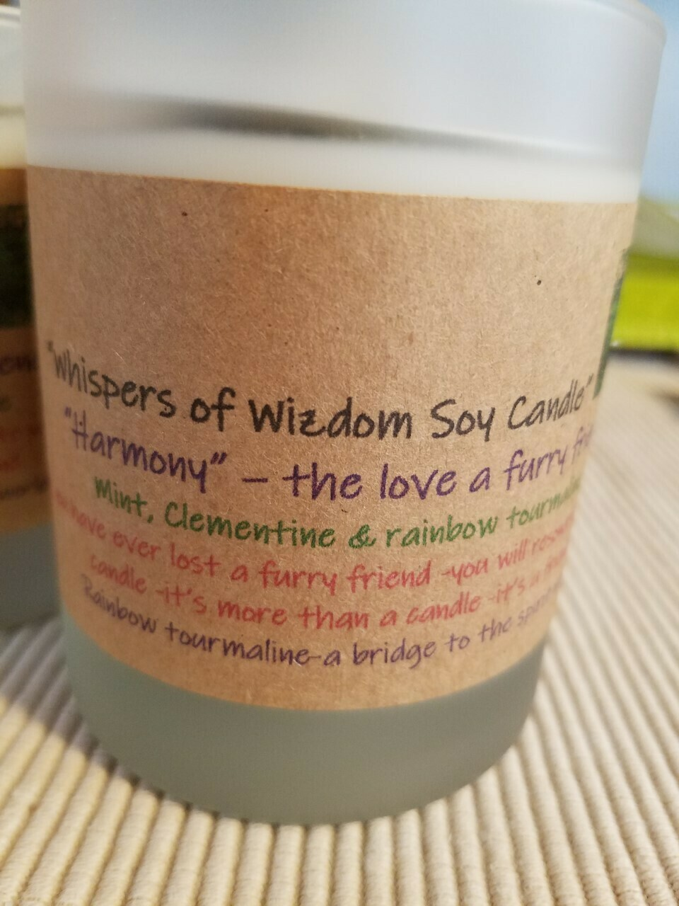 Judy's Soy Candle -Harmony-Mint/Clementine (Pick up only)