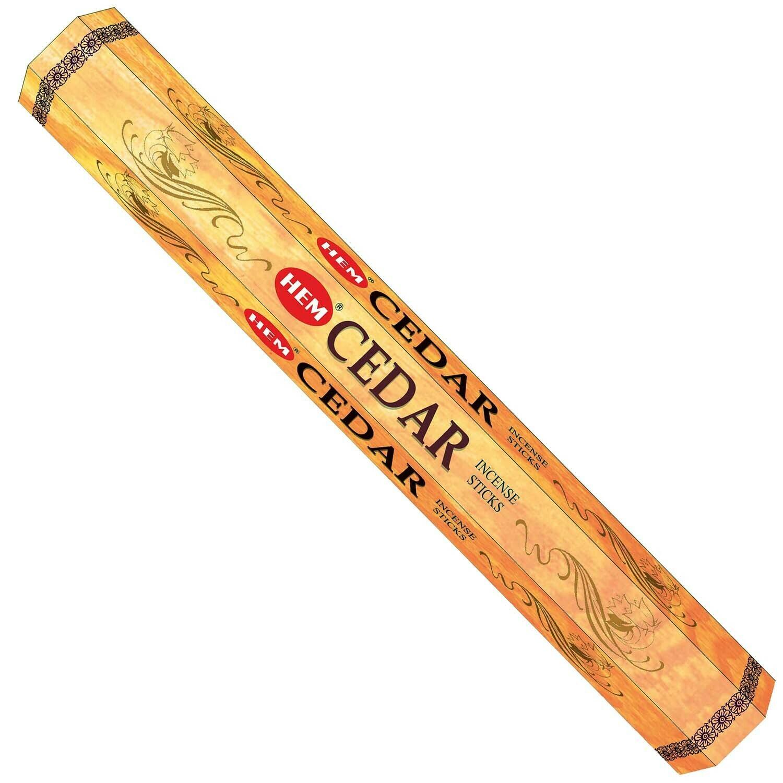 Incense HEM Cedar (3 Individual packages) 20 sticks per package