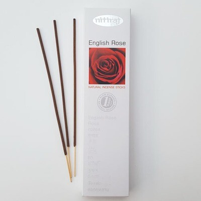 Incense Nitiraj -one pkg English rose Incense Sticks 25gm