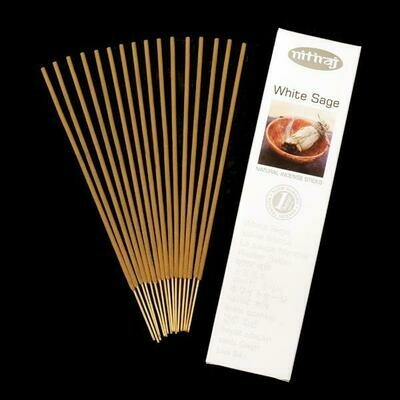 Incense Nitiraj  -one pkg of White Sage incense sticks 25 gm.