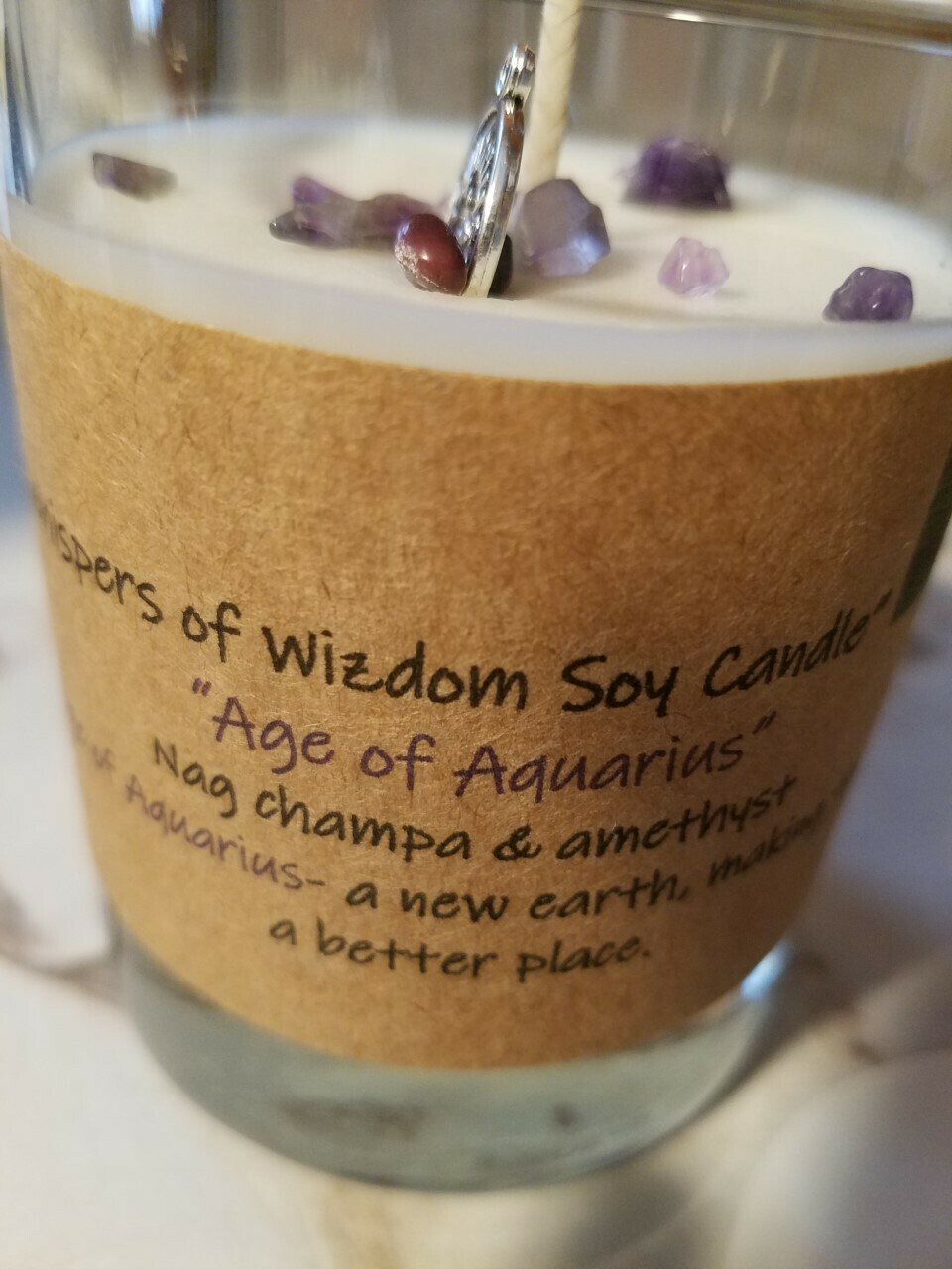 Judy's Soy Candle -Age of Aquarius-Nag Champa (Pick up only)