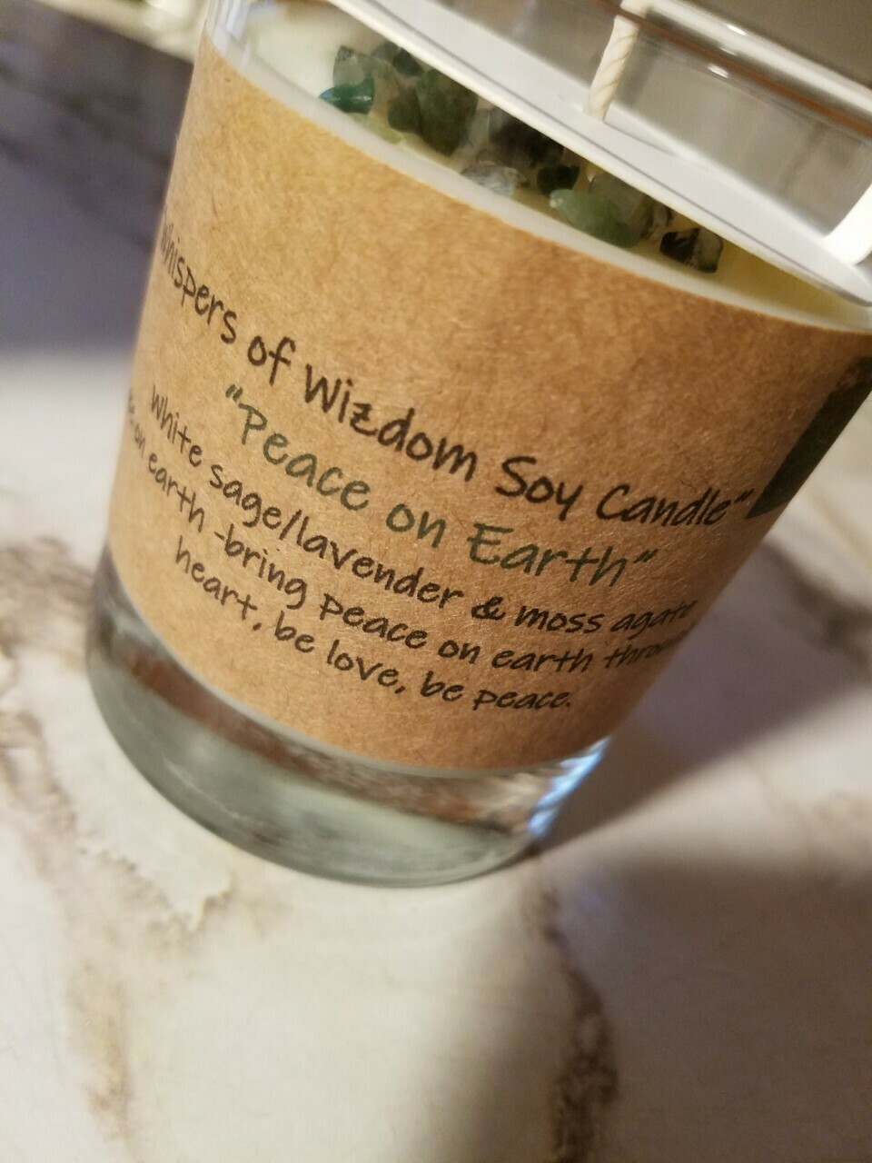 Judy's Soy Candle -Peace on Earth-White sage/lavender (Pick up only)