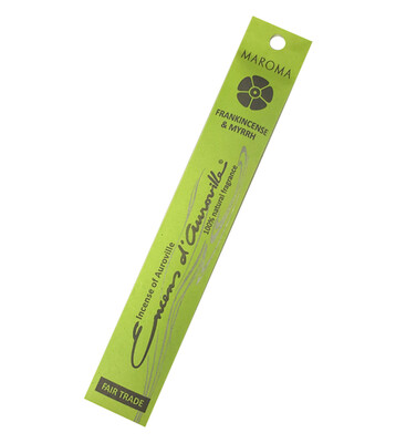 Incense Natural Maroma-Frankincense/Myrrh (10 sticks)