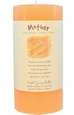 Candle 3x6 Pillar - Mother -Reiki Charged