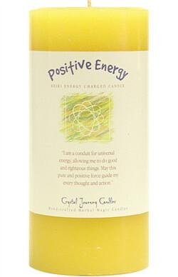 Candle 3x6 Pillar - Positive Energy -Reiki Charged