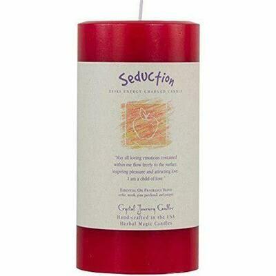 Candle 3x6 Pillar - Seduction -Reiki Charged