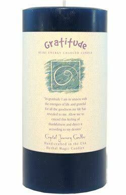 Candle 3x6 Pillar - Gratitude -Reiki Charged