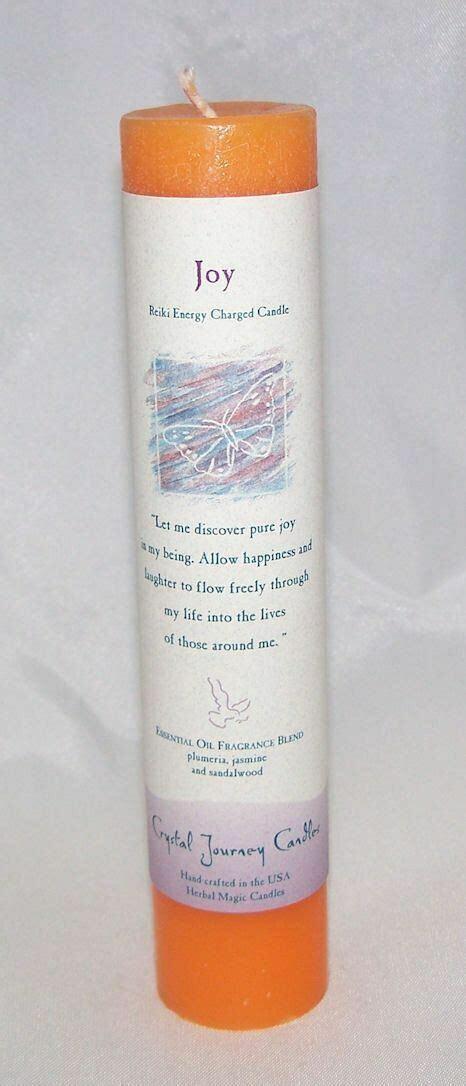 Candle Slim Pillar - Joy -Reiki Charged