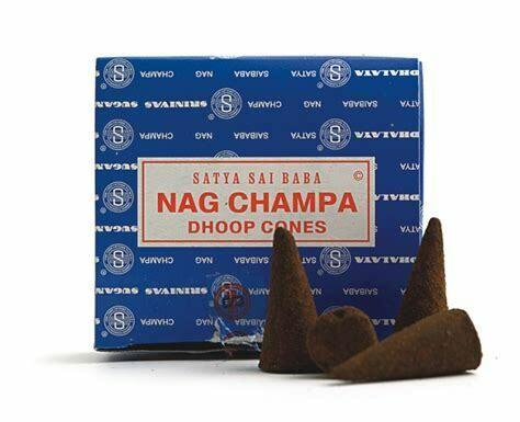 """Incense Satya Nag Champa """"cones"""". (12 pack)"""