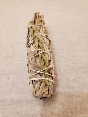 "Smudge Bundle - ""White Sage & Sweet grass"" - app. 4"" (one bundle)"
