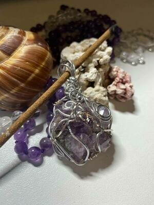 Pendant Raw Newfoundland Amethyst Cluster - Handmade by Goddess Janelle(Shipping Included-see below)